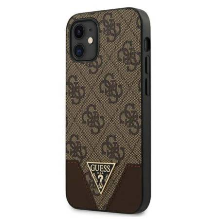 Guess 4G Triangle Collection - Etui iPhone 12 mini (brązowy)