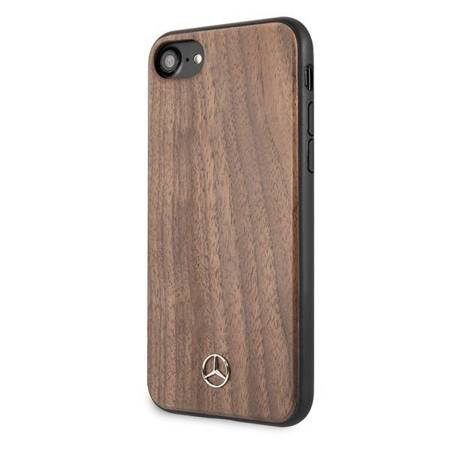 Mercedes MEHCI8VWOLB iPhone 7/8/SE 2020 hard case brązowy/brown Wood Line Walnut
