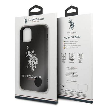 US Polo USHCN61SLHRBK iPhone 11 czarny/black Silicone Collection