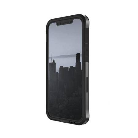 X-Doria Raptic Edge - Etui aluminiowe iPhone 12 Mini (Drop test 3m) (Black)