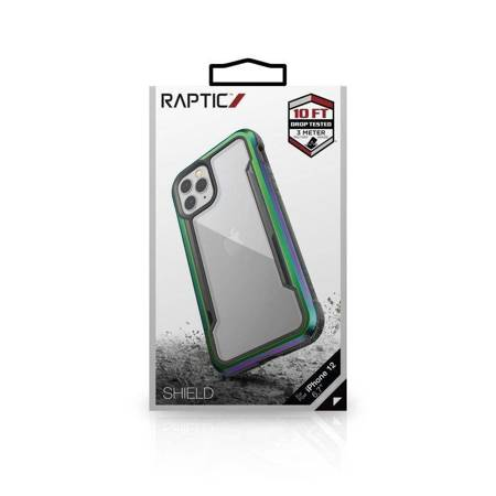 X-Doria Raptic Shield - Etui aluminiowe iPhone 12 Pro Max (Drop test 3m) (Iridescent)